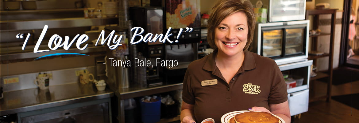 I Love My Bank customer Tanya Bale