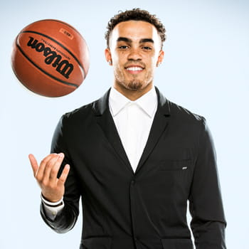 Tyus Jones with basketball