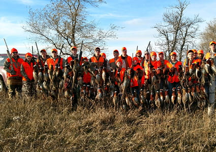 Group on hunting trip through the Outdoor Adventure Association